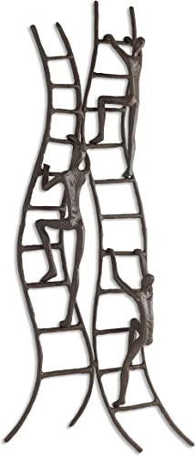 Danya B. ZI15218 Home and Office Hanging Metal Wall Art – Cast Iron Climbing to Success Stairway