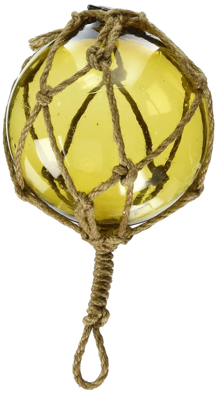 Hampton Nautical Amber Japanese Glass Ball Fishing Float ...
