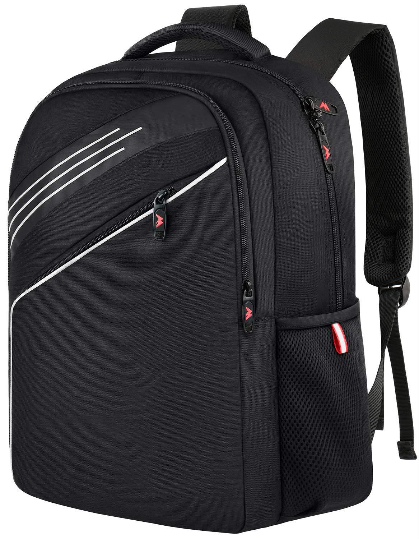 Ytonet Laptop Backpack, Slim 15.6 Laptop Backpack Bag for Boys Girls Men Women, College School Backpack Lightweight Water-Resistant Computer Bookbags for Campus and Travel – Black