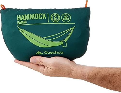 Quechua Camping Hiking Versatile 1 Person Hammock Dusty Green