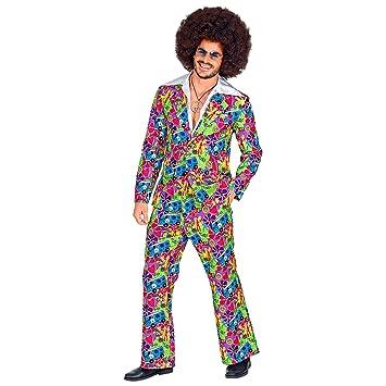 WIDMANN 09342 - Disfraz de los años 70 para hombre, multicolor, M ...