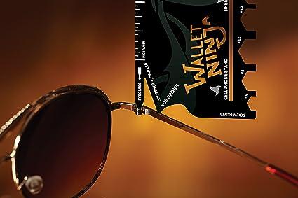 Vante-Wallet Ninja 18 en 1 herramienta de bolsillo multiusos para tarjetas de crédito, color negro