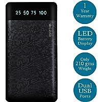 Czar Matrix Slim Pocket size 10000 MAh Power Bank for All Smart Phones