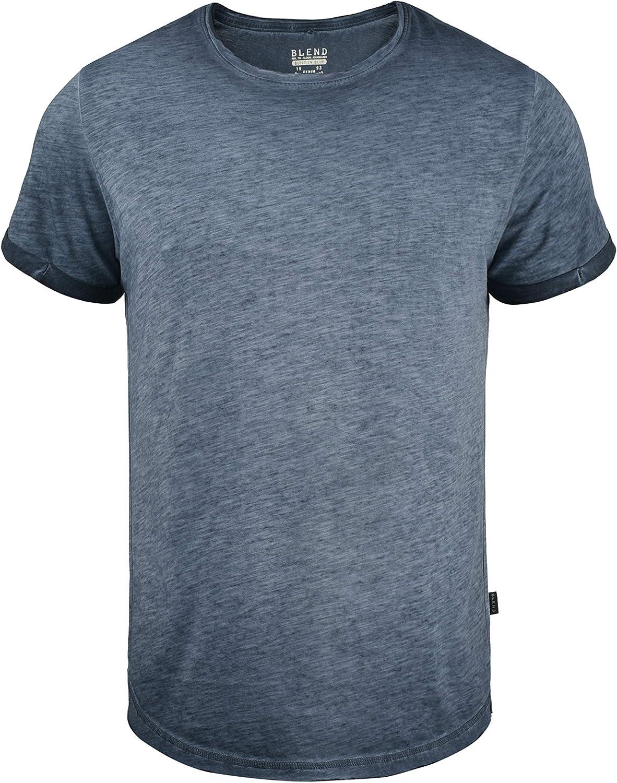 Blend Mino Camiseta Básica De Manga Corta T-Shirt para Hombre con Cuello Redondo, tamaño:M, Color:Dark Navy Blue (74645): Amazon.es: Ropa y accesorios