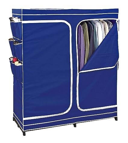 Superbe Clothes Closet Double Door Storage Closet Seasonal Storage Unit Wardrobe  Organizer Easy Zip, Non Woven
