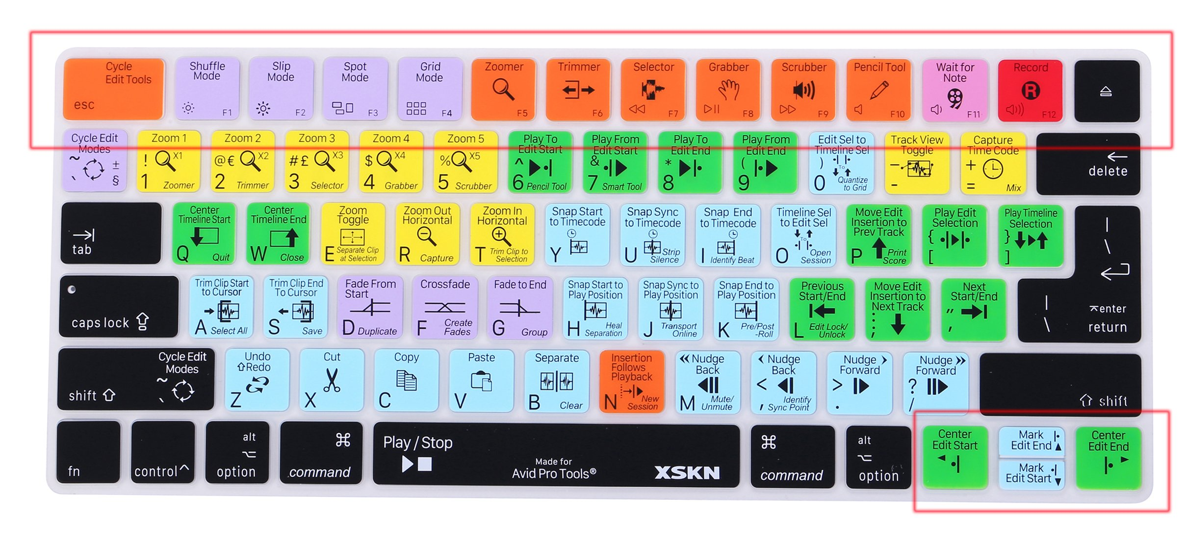 XSKN Magic Keyboard Avid Pro Tools Shortcut Keyboard Cover, Durable Avid Hotkeys Silicone Keyboard Skin for Apple Magic Keyboard MLA22LL/A by XSKN (Image #9)