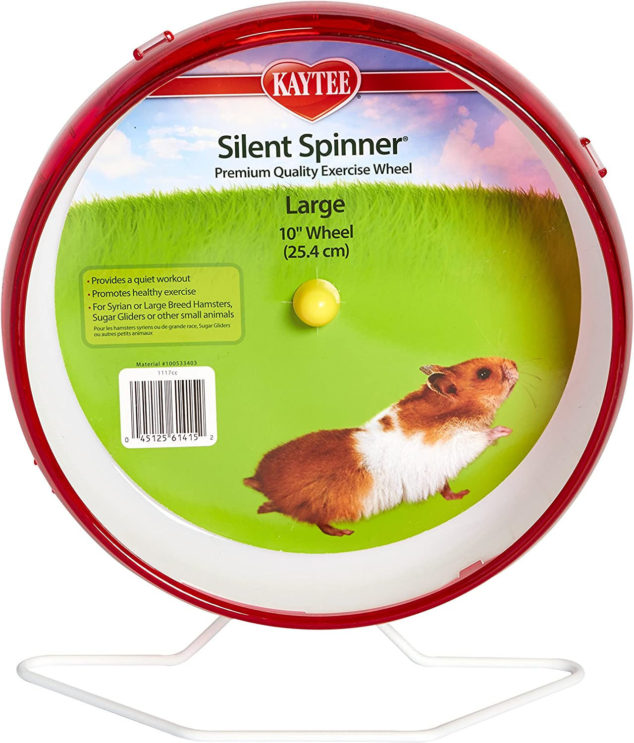 """Kaytee Silent Spinner 10"""" Exercise Wheel, Large, Colors May Vary"""