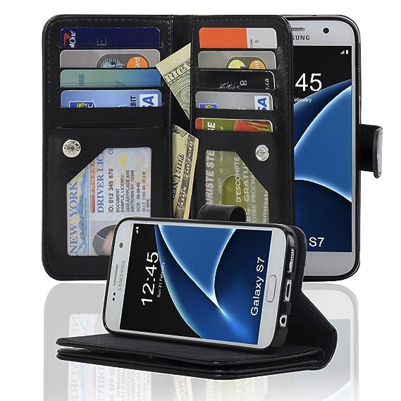 wholesale dealer b8307 c7db0 Navor JOOT3 Series Samsung Galaxy S7 Wallet Case with Detachable Magnetic  Cover - Black (S7O3LBK)