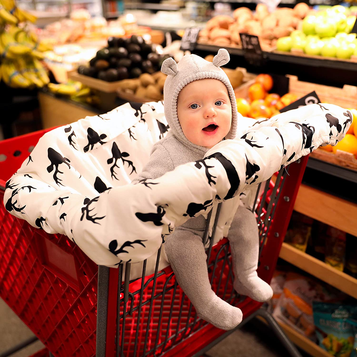 Shopping cart Covers for Baby | High Chair and Grocery Cover for Babies