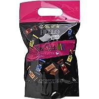 Lindt HELLO Mini Schokoladenriegel, Mini Sticks im XXL Beutel, 4 Sorten, ca. 90 Stück, einzeln verpackt, Großpackung, 900g