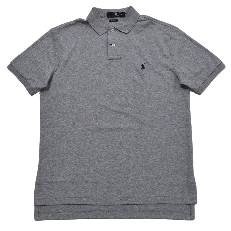 4b2a4ec918eb74 Polo Ralph Lauren Mens Custom Fit Interlock Polo Shirt (Large, Andover  Heather) at Amazon Men s Clothing store