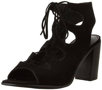 2ede29a0dcb Steve Madden Women's Nilunda Dress Sandal, Black Suede, 7.5 M US ...