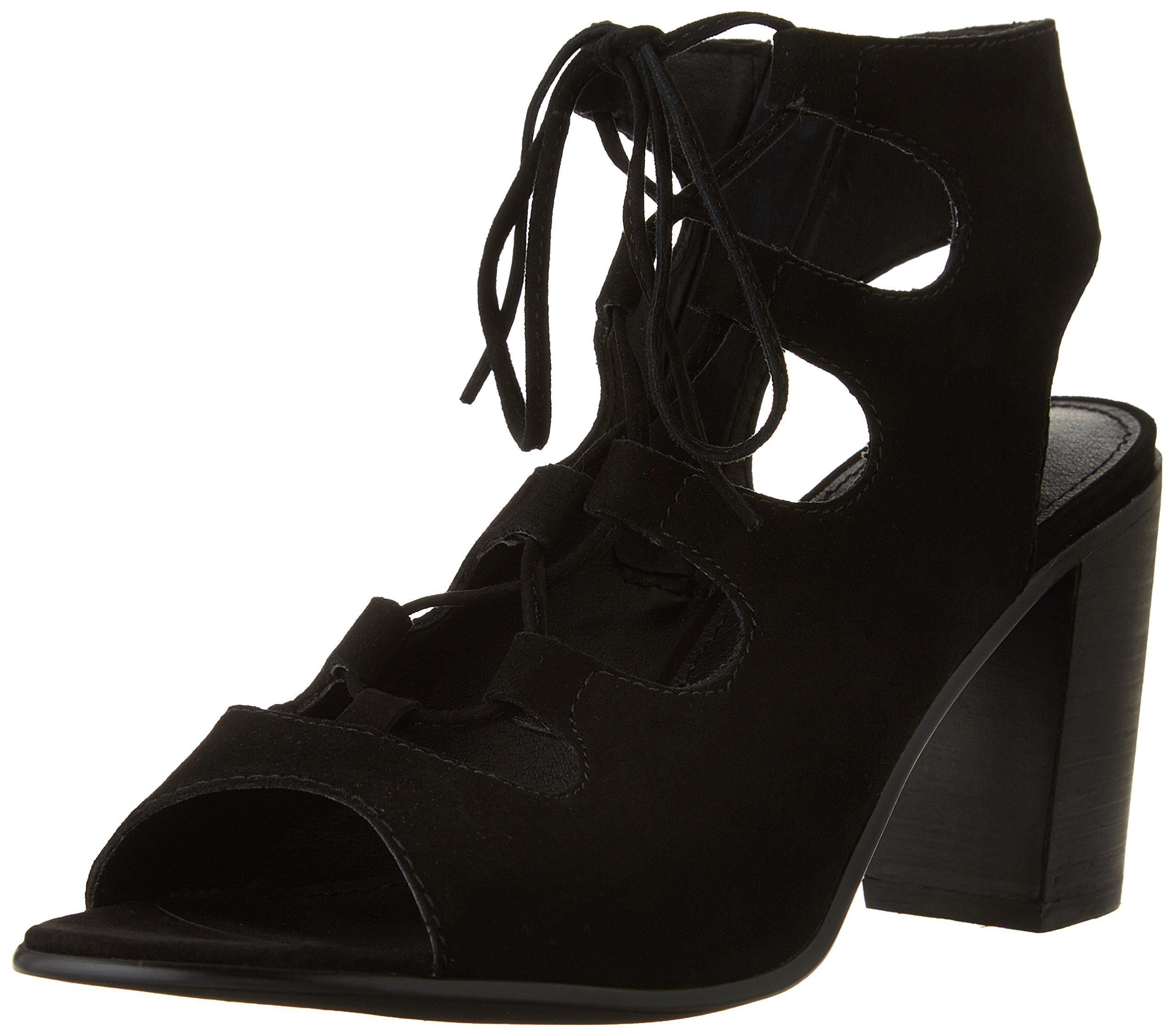 Steve Madden Women's Nilunda dress Sandal, Black Suede, 7 M US