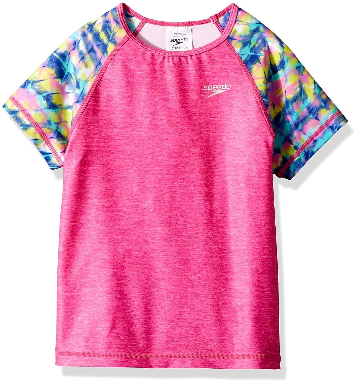 Speedo Short Sleeve Printed Short Sleeve Rashguard Shirt