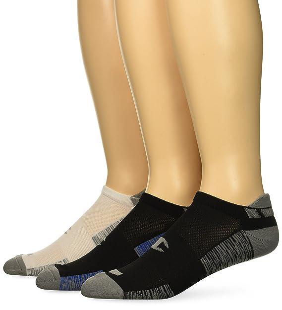 31d1a1e62b665 Champion Men's Heel Shield Socks 3-Pack, Black with Blue Assortment ...
