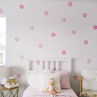 "Modern Maxwell Wall Art Decals for Girls Nursery, Bedroom, Living Room ""Lola"" Dot Room Sticker 32 Pieces: Toys & Games"