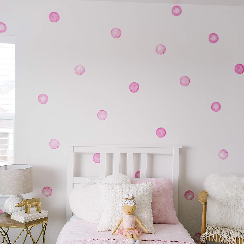 "Modern Maxwell Wall Art Decals for Girls Nursery, Bedroom, Living Room ""Lola"" Dot Room Sticker 32 Pieces"