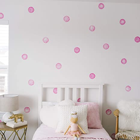 Modern Maxwell Wall Art Decals For Girls Nursery Bedroom Living Room Lola Dot Room Sticker 32 Pieces