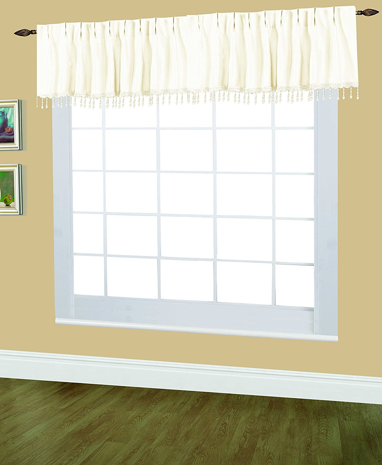 Editex Home Textiles Elaine Lined Pinch Pleated Window Curtain Red 96 by 95-Inch
