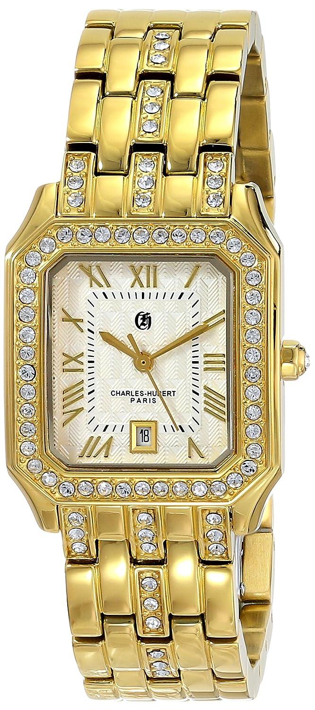 Charles-Hubert - Paris Damen-Armbanduhr Armband Gold beschichtetes Edelstahl GehÄuse Edelstahl Quarz 6898-G