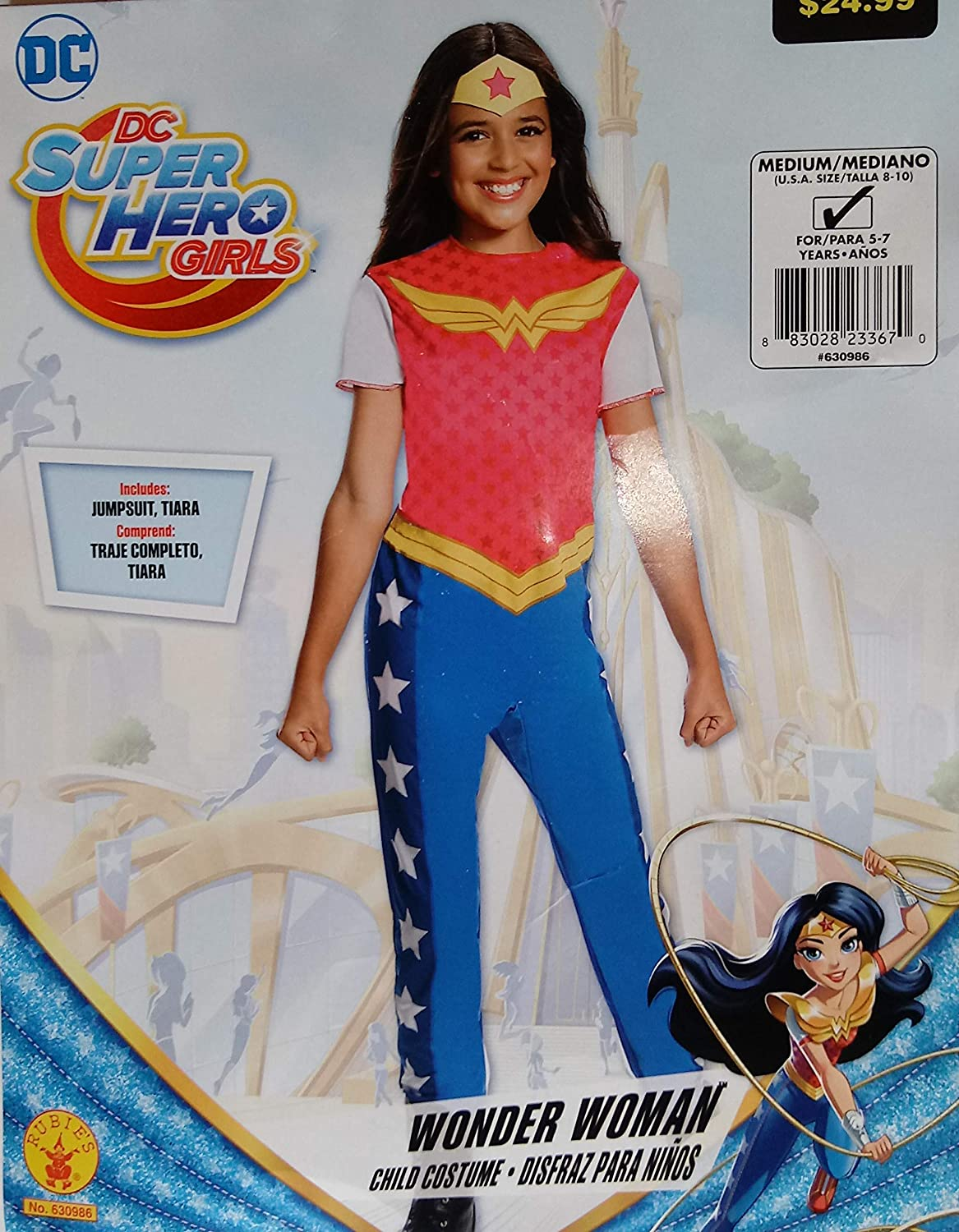 Amazon.com: DC Super Hero Girls Wonder Woman Costume Medium ...