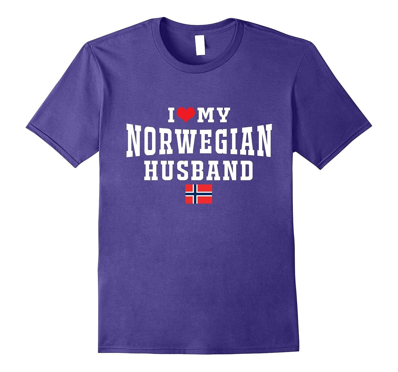 I Love My Norwegian Husband of Norway Flag Map Tshirt Gifts-FL