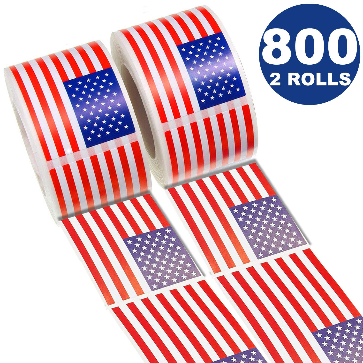 Teacher Reward 3 Rolls/1-3//5 Inch American Flag Suitcase Stickers Vinyl Decals,Reusable Roll Sticker for Children Game Prizes OuMuaMua Label Sticker Sheets for Kids Party Favor /& Supplies