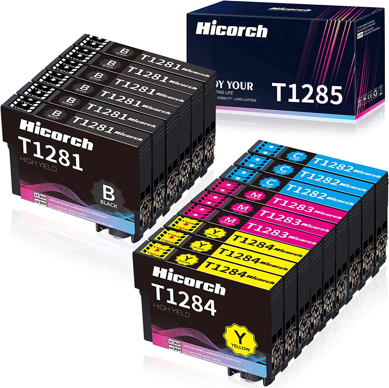Hicorch Ersatz Für Epson T1281 T1282 T1283 T1284 T1285 Patronen Kompatible Mit Epson Stylus S22 Sx125 Sx130 Sx230 Sx235w Sx420w Sx425w Sx430w Sx440w Sx445w Bx305fw 6 Schwarz 3 Cyan 3 Magenta 3 Gelb Bürobedarf