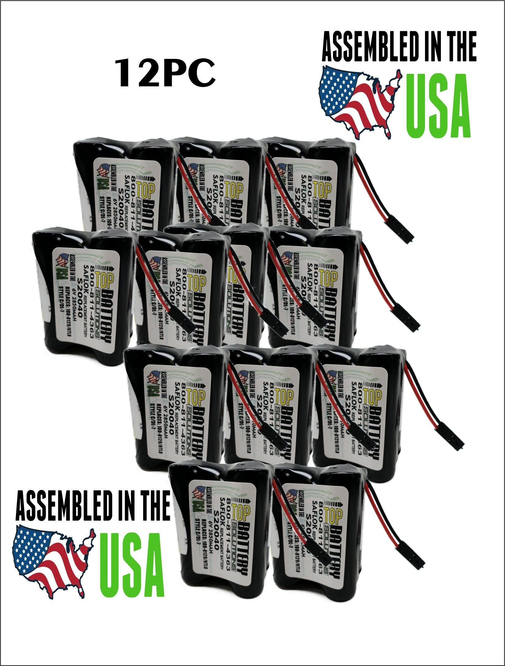 12PC Saflok S20040 Door Lock Batteries - DL-7 REPLACEMENT by TOP BATTERY SOLUTIONS