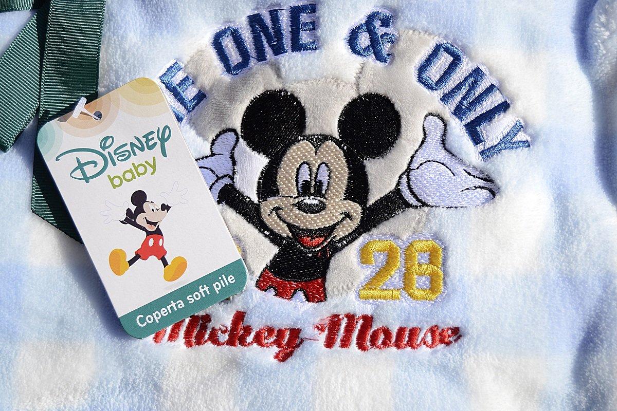 Disney Couverture en polaire pour poussette Motif Mickey Mouse