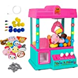 Claw Home Arcade Game Prize Grabber Carnival LED Lights Animation Adjustable Sounds USB Port Cable with 10 Plush Toys and 12 Filled Eggs