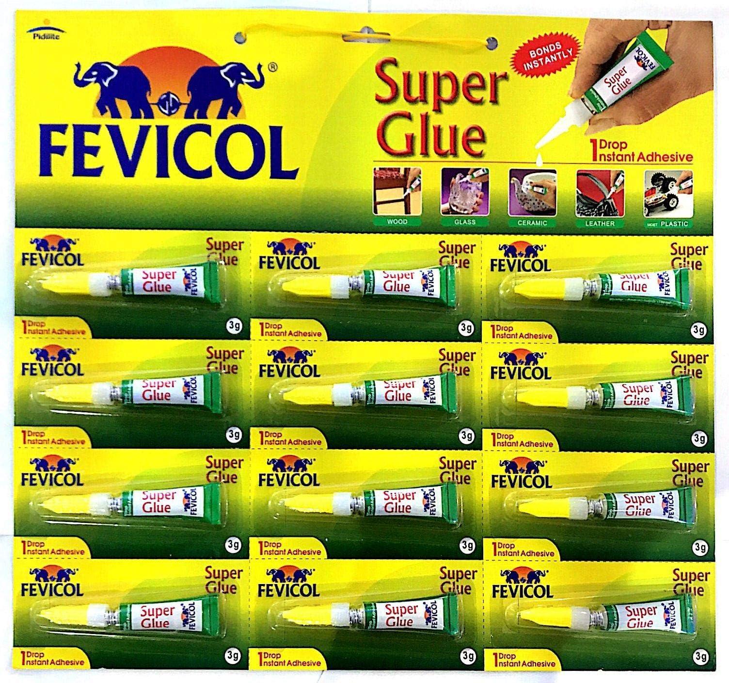 Super Glue 1 Drop Instant Adhesive 3g X 12 Nos Pidilite Fevicol Price In Uae Amazon Uae Kanbkam