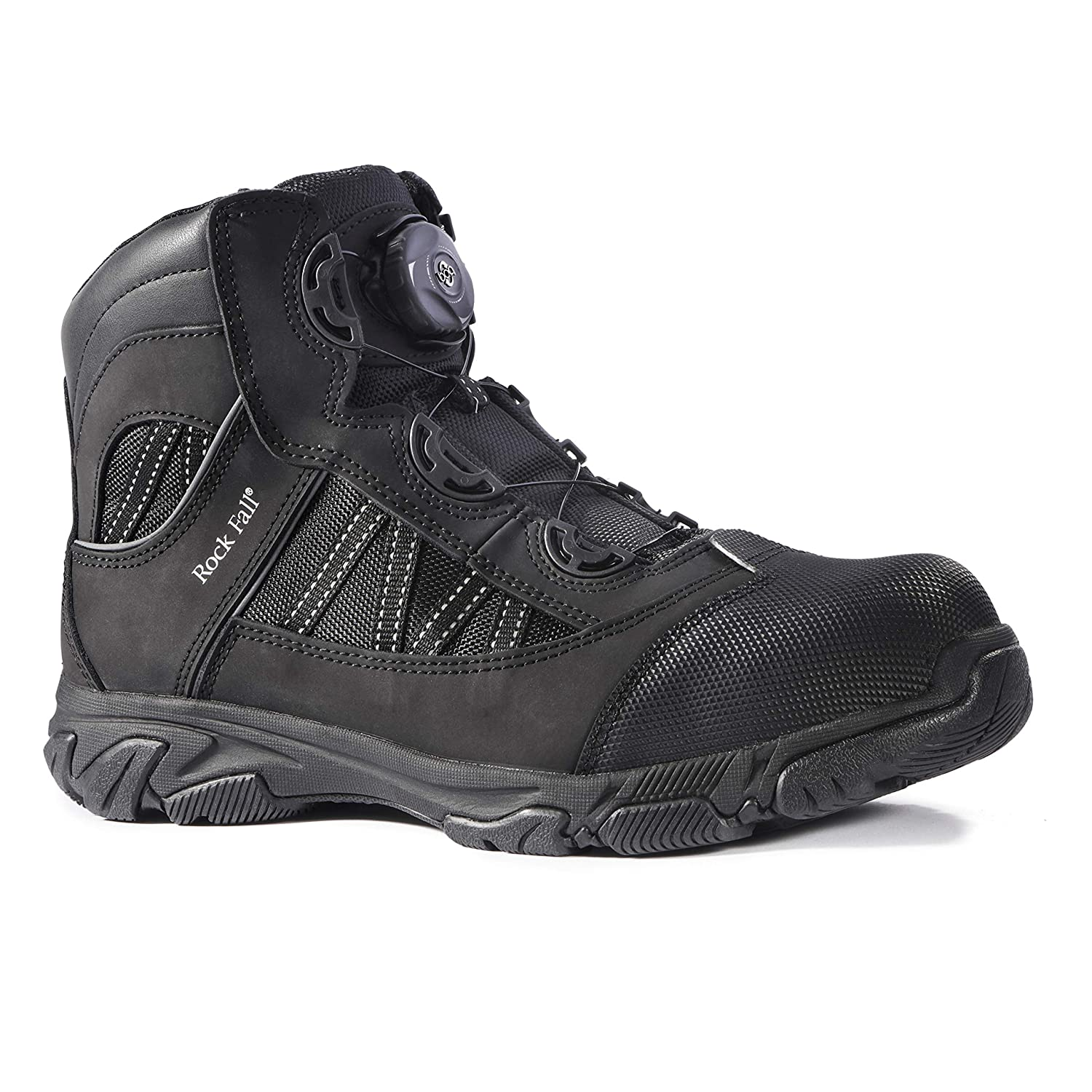 32e500f4a75 Rock Fall Ohm RF160 SB SRC EH Black Electrical Hazard Boa Lace Safety Boots  PPE