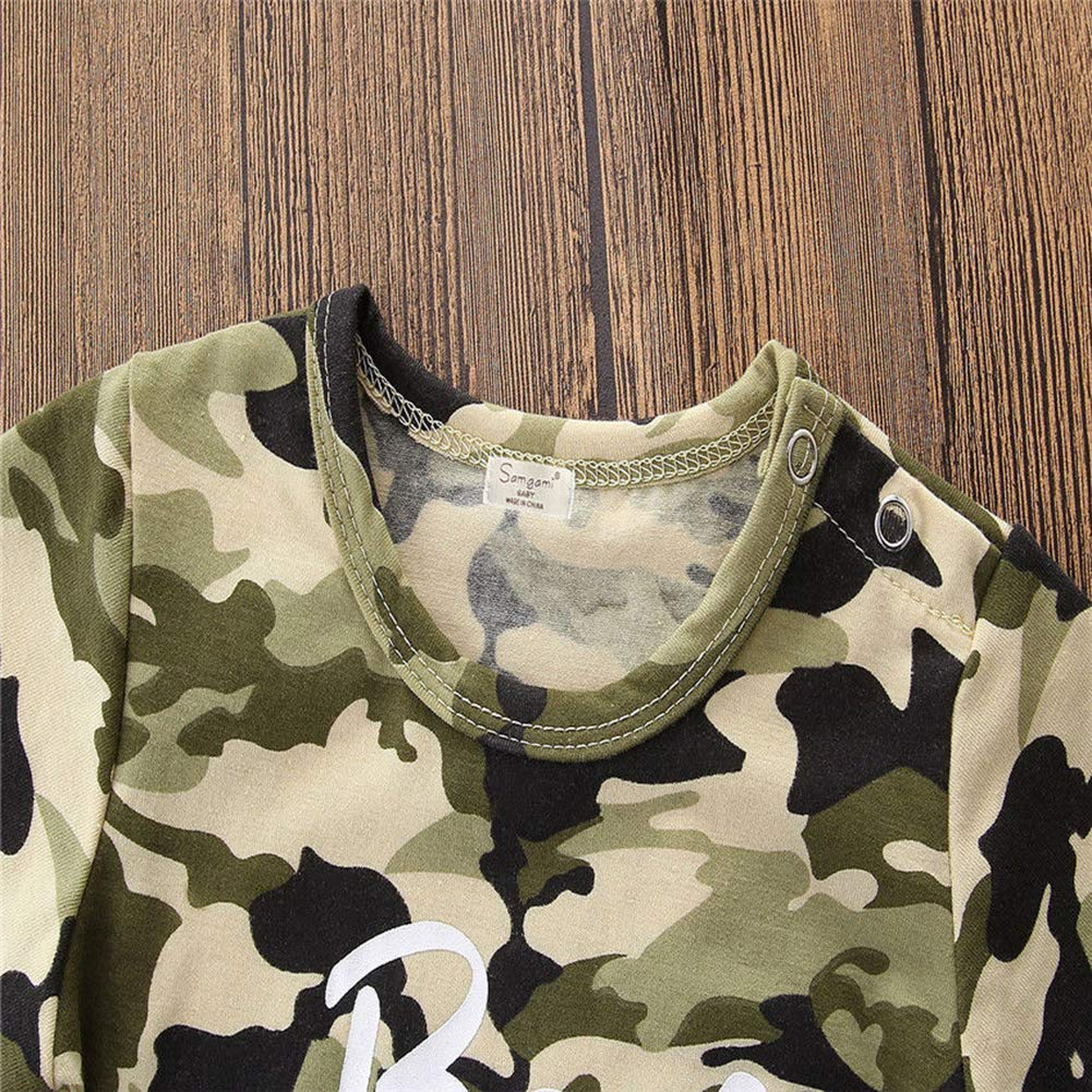 Little Sister Little Brother Outfit Family Matching Set Baby Girls Boys Romper T-Shirt Tops Camouflage Clothes