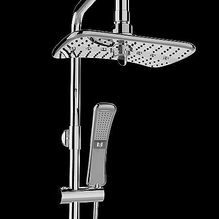 4 Setting Multi-Function Waterfall Rainfall ABS Chrome Shower Head Wand Combo