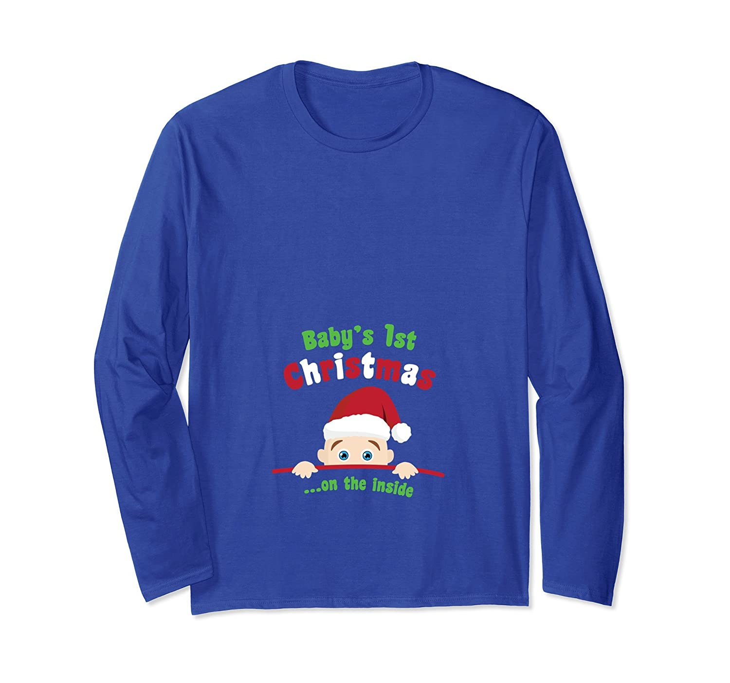 Baby's First Christmas On The Inside Pregnancy Mother Shirt-TH
