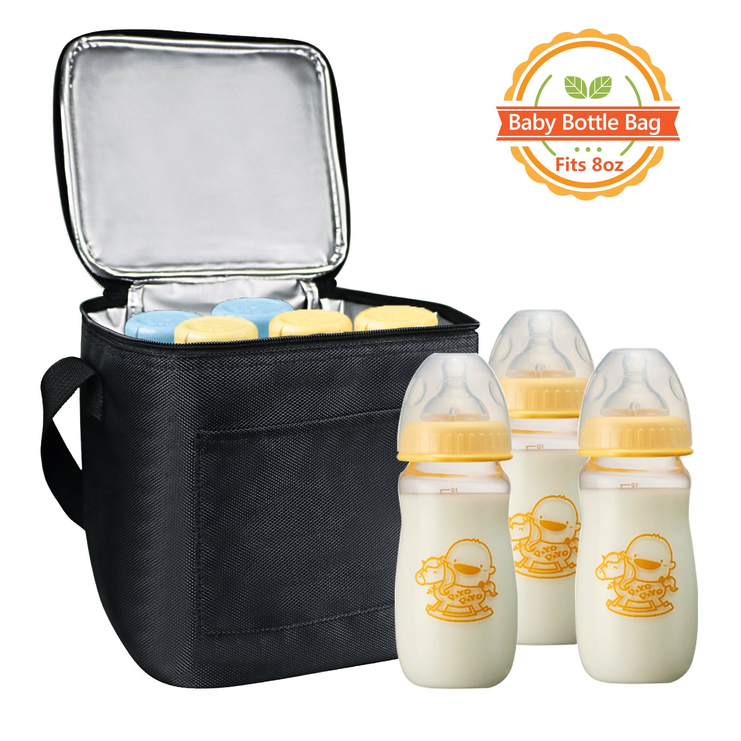 Breast Milk Baby Bottle Cooler Bag, Homga Breastmilk Insulated Cooler Tote Storage w/Air Tight Lock in The Cold & Preserve Important Nutrients (X-Large)