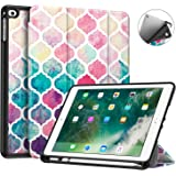 Fintie iPad 9.7 2018 (6th Gen) Case with Built-in Apple Pencil Holder - [SlimShell] Lightweight Soft TPU Back Protective Stand Cover with Auto Wake / Sleep for Apple iPad 9.7 inch Tablet (2018 Release), Moroccan Love