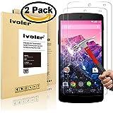 [2-Pack] LG Nexus 5 Pellicola Protettiva, iVoler® Pellicola Protettiva in Vetro Temperato per LG Google Nexus 5 - Vetro con Durezza 9H, Spessore di 0,2 mm,Bordi Arrotondati da 2,5D-Shockproof, Trasparenza ad alta definizione, Facile da installare- Garanzia a vita