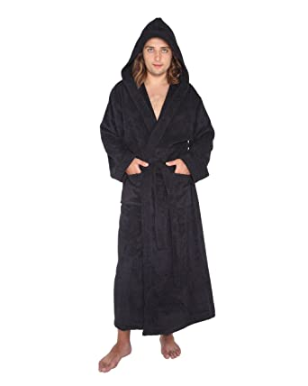 a49913a746e Women s Men s Pacific Style Full Length Hooded Turkish Cotton Bathrobe   Amazon.co.uk  Clothing