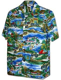 28cf013d8 Motorcycle Hawaiian Aloha Shirt; Made in Hawaii at Amazon Men's ...