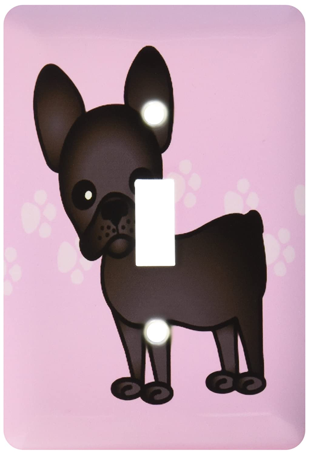 3drose Lsp253191 Cute Black Brindle French Bulldog Pink With