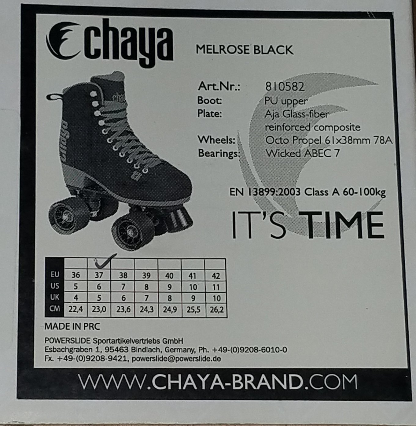 Chaya Melrose Black & Pink Quad Indoor/Outdoor Roller Skates (Euro 40 / US 9) by Chaya (Image #6)