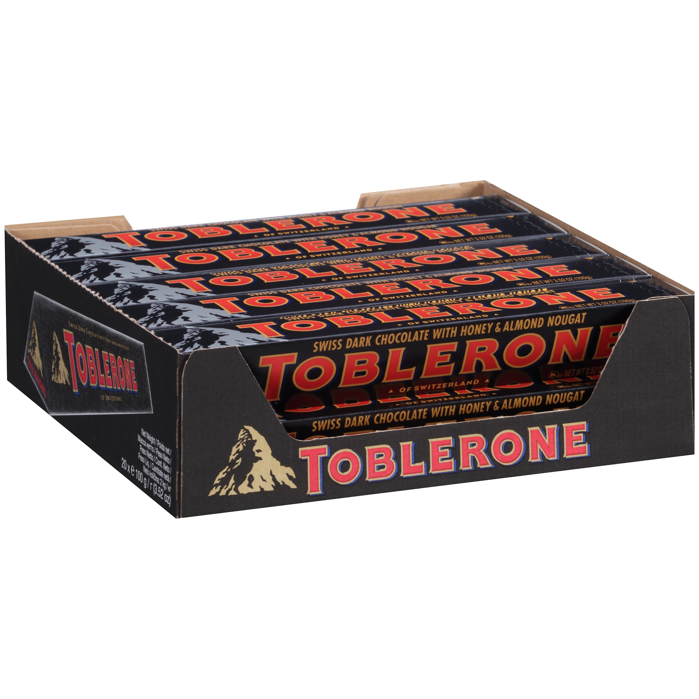 Toblerone Chocolate Bar, Dark, 3.52 Ounce (Pack of 20) by Toblerone (Image #3)