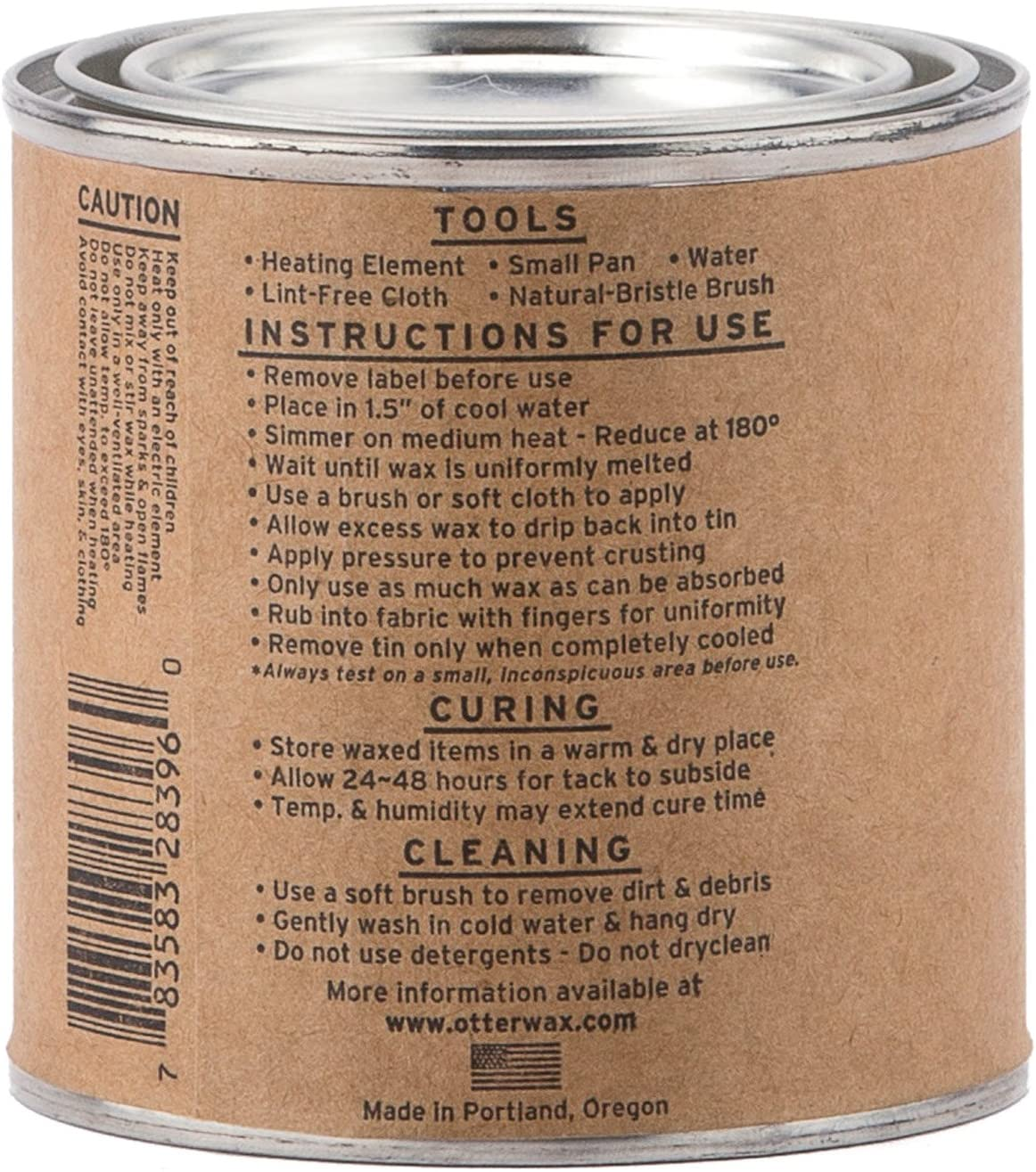 Otter Wax Heat-Activated Fabric Dressing   1/2 Pint   All-Natural Water Repellent   Made in USA: Sports & Outdoors