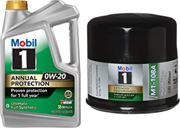 Mobil 1 Oil Filter >> Amazon Com Mobil 1 Annual Protection Synthetic Motor Oil 0w