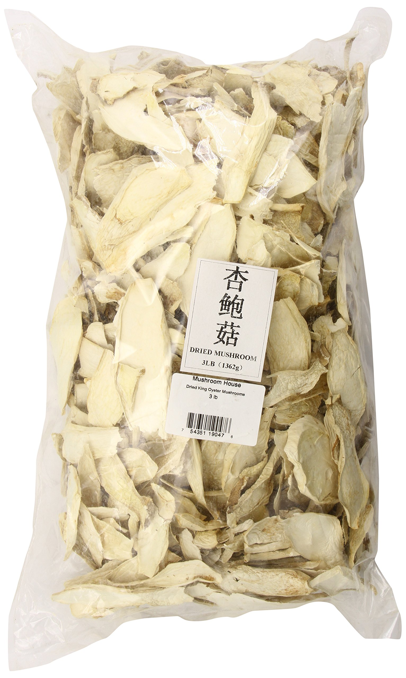 Mushroom House Dried King Oyster Mushrooms, 3-Pound by Mushroom House