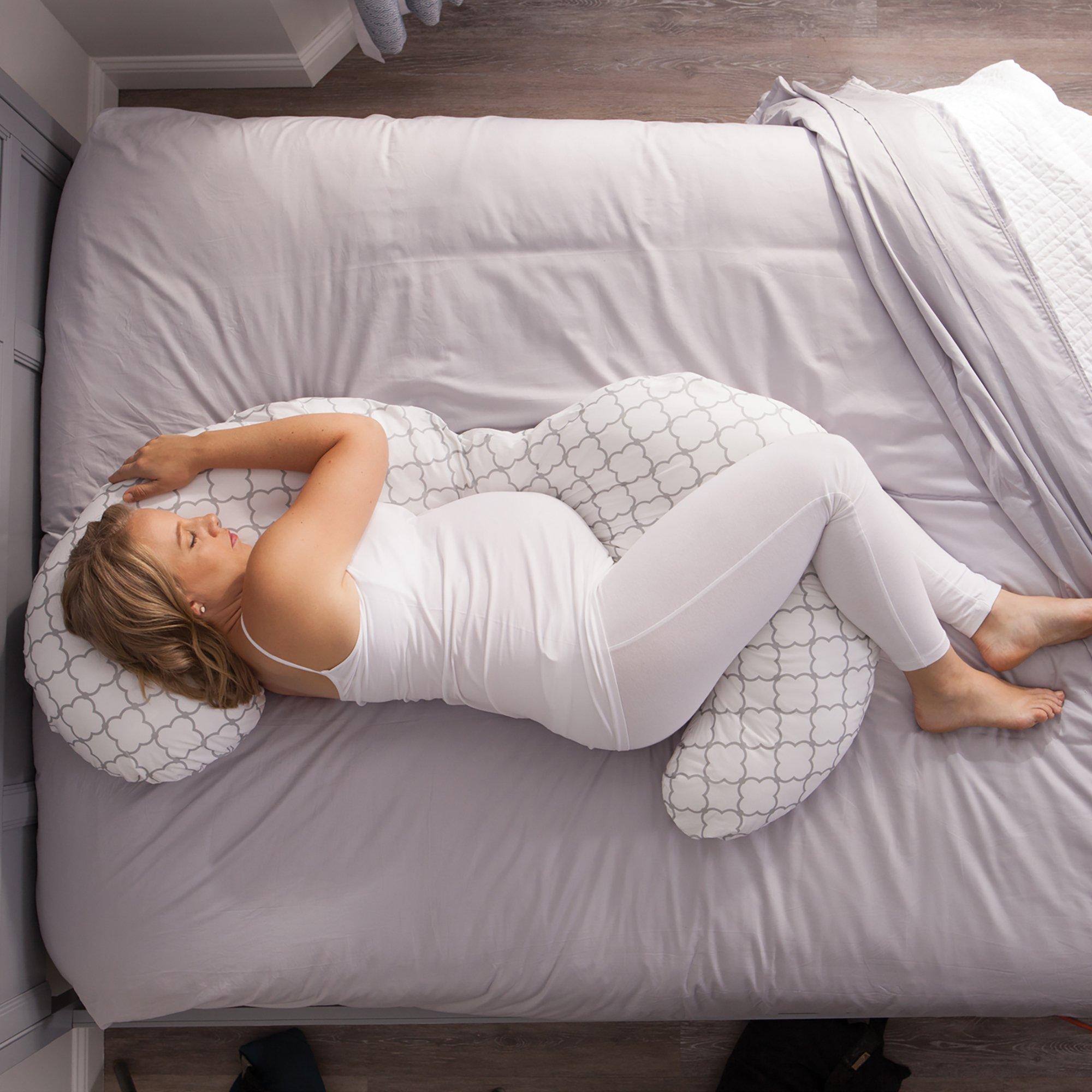 Boppy Slipcovered Pregnancy Body Pillow Trellis White Baby Tools