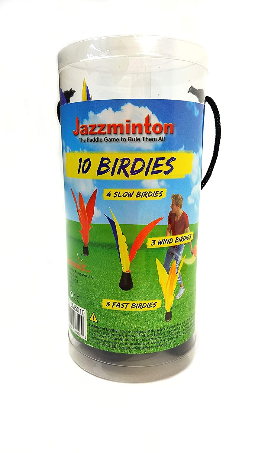 Amazon.com : Funsparks Jazzminton 11 Replacement Birdies or Shuttlecocks for Indoor and Outdoor Game - Played at Parks, Beach, Lawn, Yard, or Tailgating ...