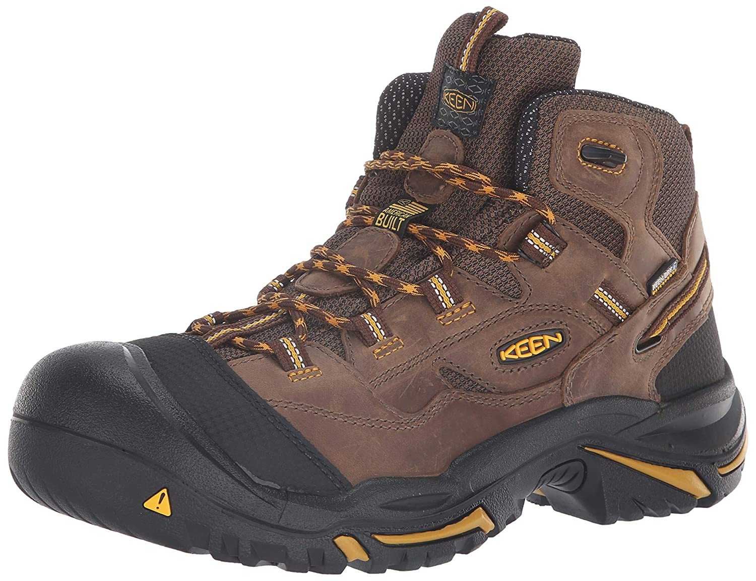 fe52718a13d KEEN Utility - Men's Braddock Mid (Soft Toe) Waterproof Work Boot ...